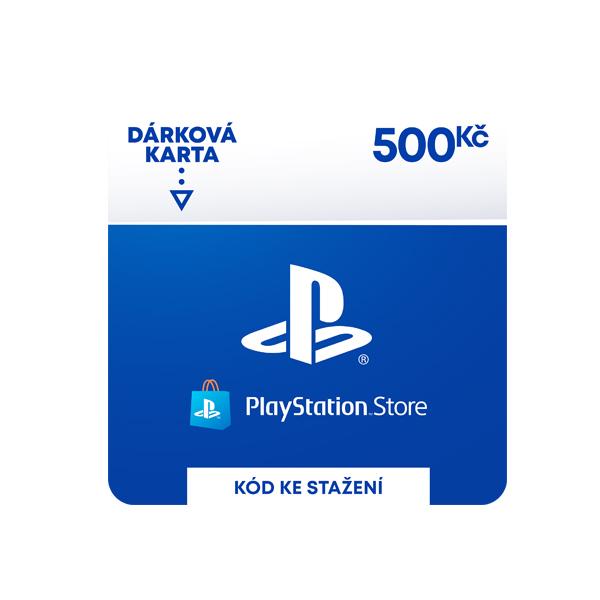 PlayStation Store 500 Kč-elektronická peněženka