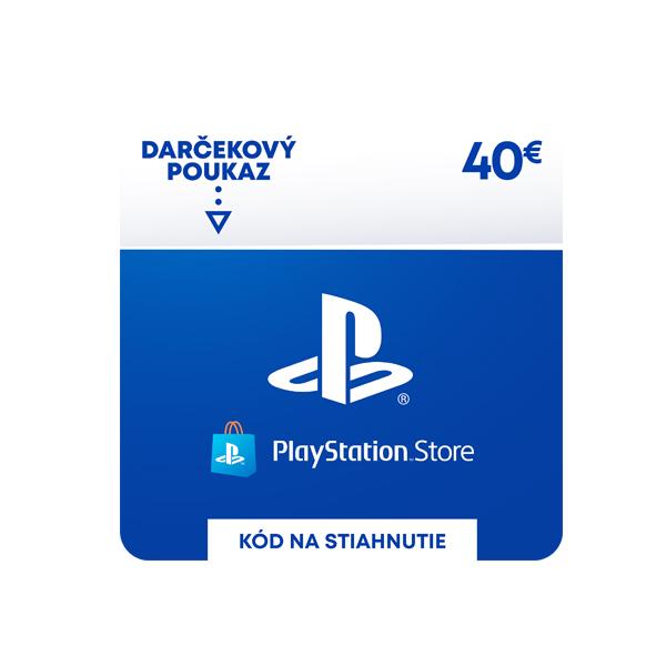 PlayStation Store 40 €-elektronická peněženka