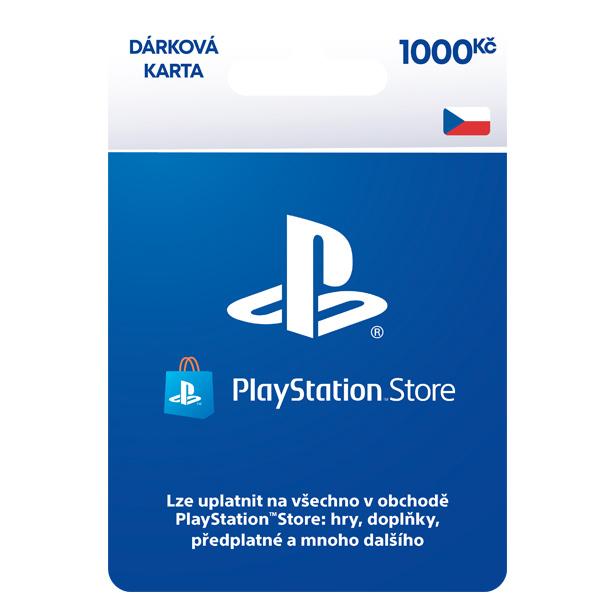 PlayStation Store naplnění peněženky 1000 Kč