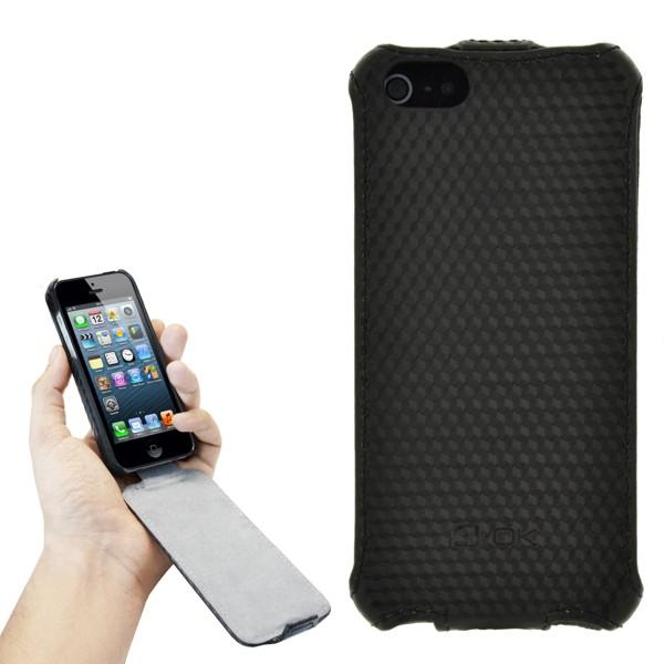 4-OK KLAP KARBON BLACK IPHONE 5