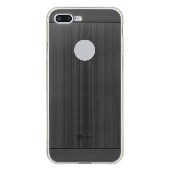 Pouzdro 4-OK TPU Metal Case Pro iPhone 7 Plus, černá