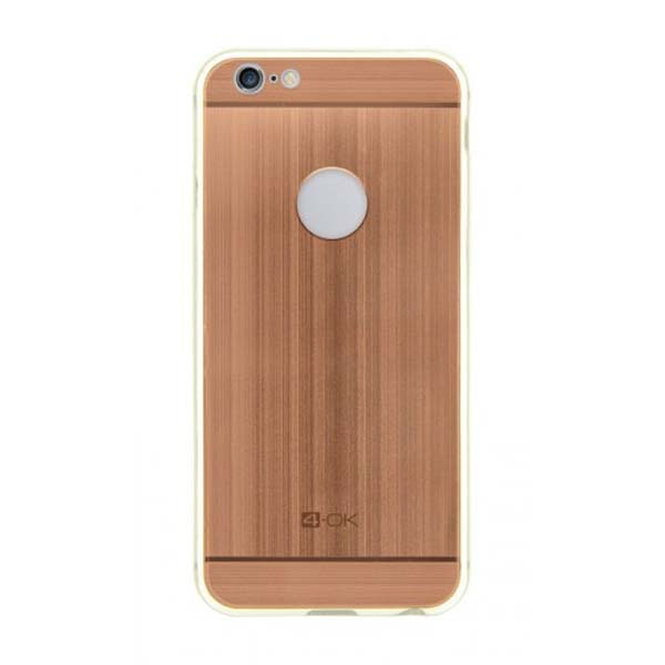 4-OK Metal Cover for iPhone 6, rose gold