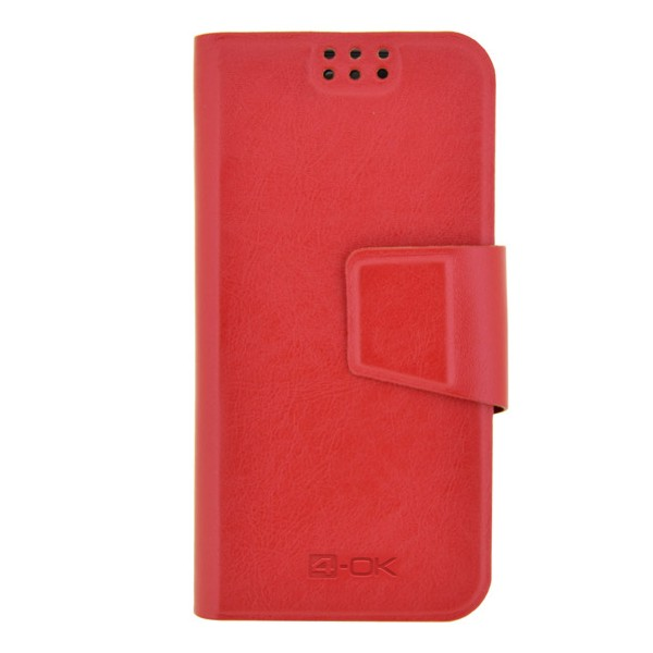 4-OK UNIBOOK CASE SIZE TS4-S4-S3-Z-L7 II-XPERIA T-Z & SIMILARS RED COLOR