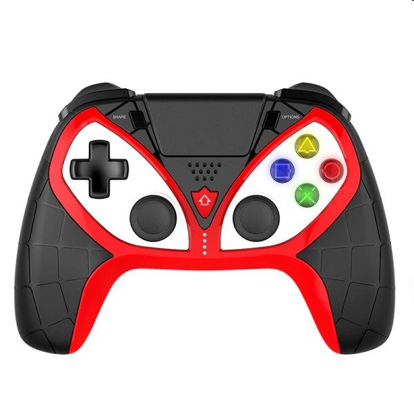 iPega 4012 bezdrátový herní ovladač pro PS4/PS3/iOS/Android/Windows, black/red