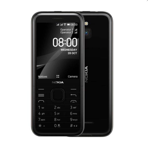 Nokia 8000, 4G, Dual SIM, black - SK distribúcia