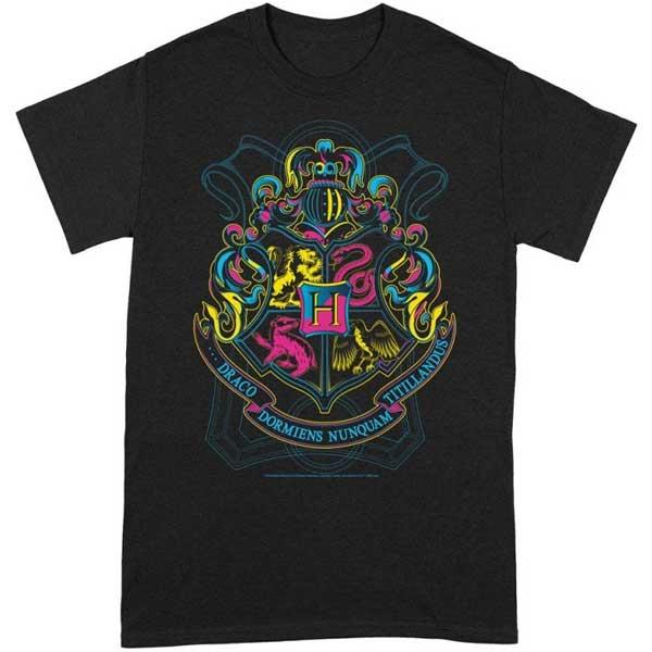 Tričko Neon Hogwarts (Harry Potter) M