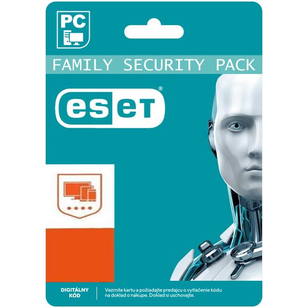 ESET Family Security Pack pro 4 zařízení na 18 měsíců SK (elektronická licence)