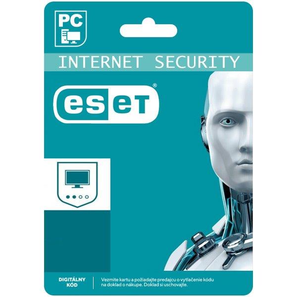 ESET Internet Security pro 1 počítač na 12 měsíců SK (elektronická licence)
