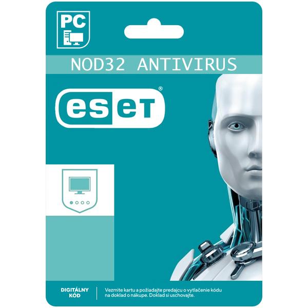ESET NOD32 Antivirus pro 1 počítač na 12 měsíců SK (elektronická licence)