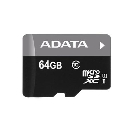 A-Data Micro SDXC Premier 64GB SD adaptér, UHS-I, Class 10-rychlost 30 MB/s