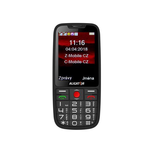 Aligator A890 GPS Senior, Dual SIM, černý