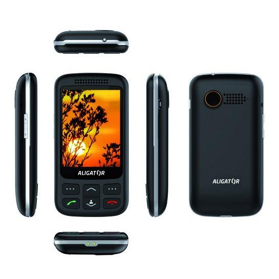 Aligator VS900 Senior, Dual SIM, černo-stříbrný + stolní nabíječka