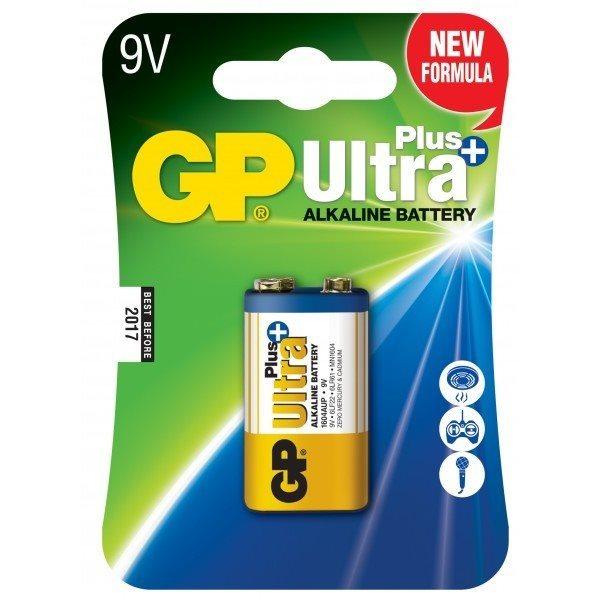 Alkalická baterie typ 9V (16LF22), GP Ultra Plus, 1 kus