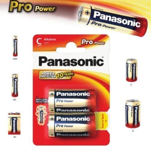 Alkalická baterie typ C (LR14), Panasonic Pro Power, 2 kusy