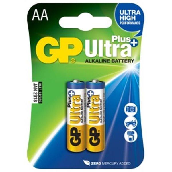 Alkalická tužková baterie AA, GP Ultra Plus, 2 kusy
