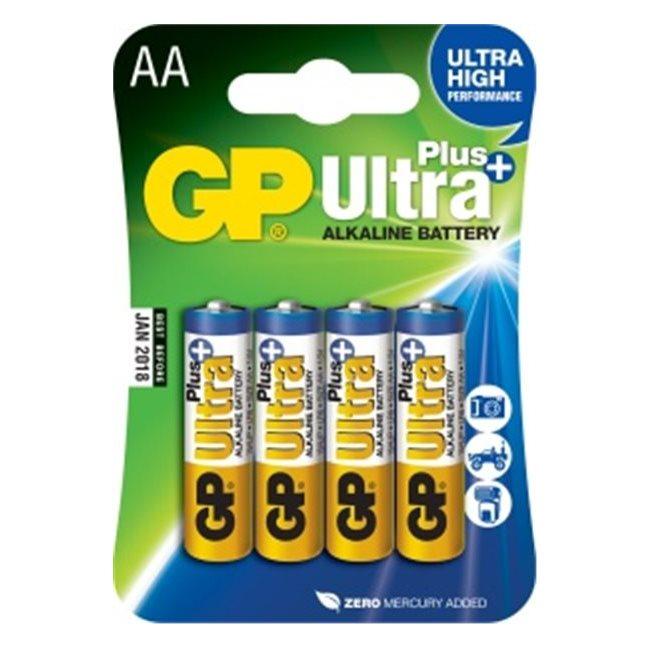 Alkalická tužková baterie AA, GP Ultra Plus, 4 kusy