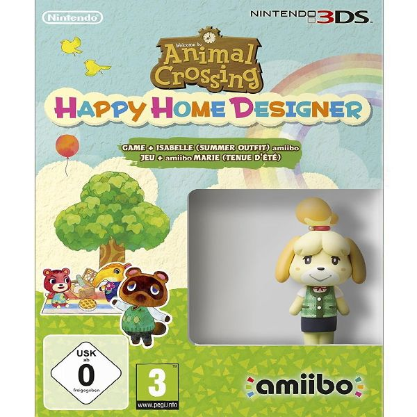 Animal Crossing: Happy Home Designer + amiibo Isabelle (Summer Outfit) 3DS