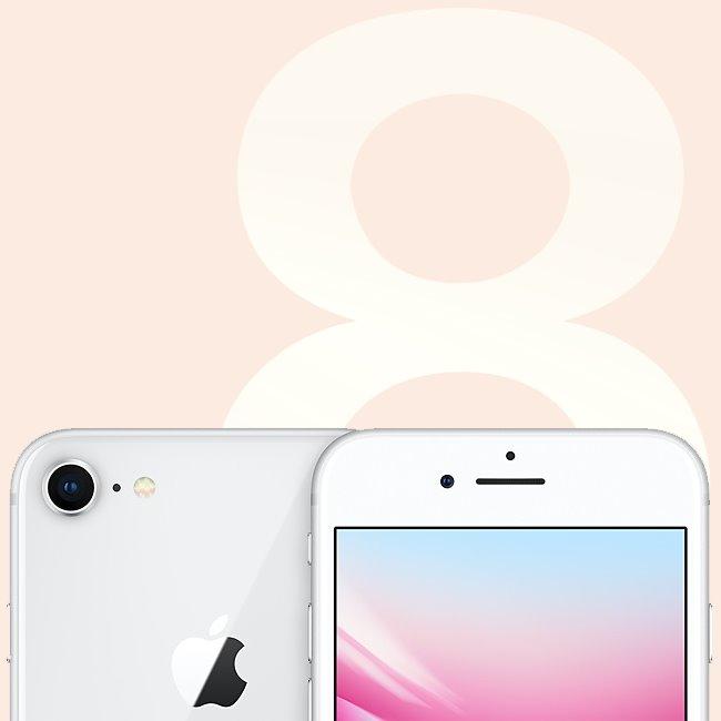 Apple iPhone 8, 64GB |  Silver, Třída A-použité, záruka 12 měsíců