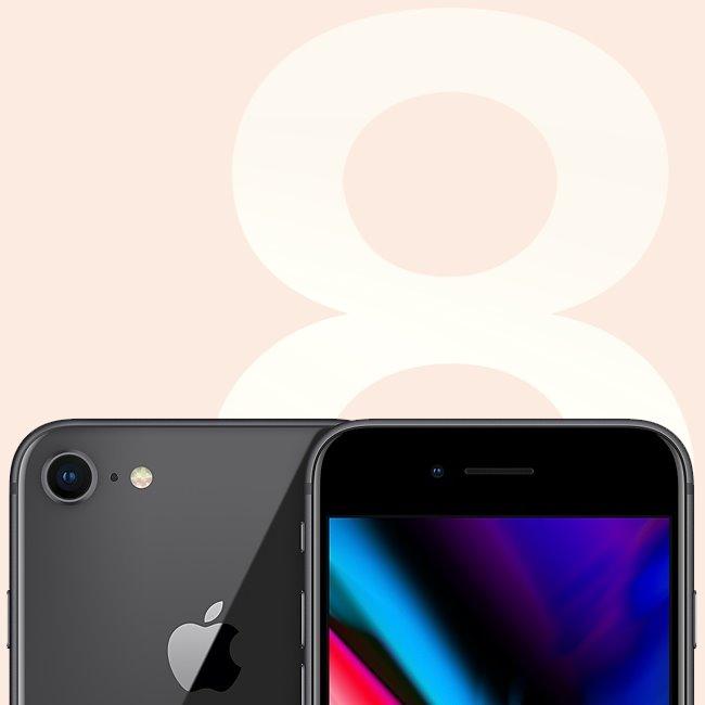Apple iPhone 8, 64GB |  Space Gray, Třída C-použité, záruka 12 měsíců