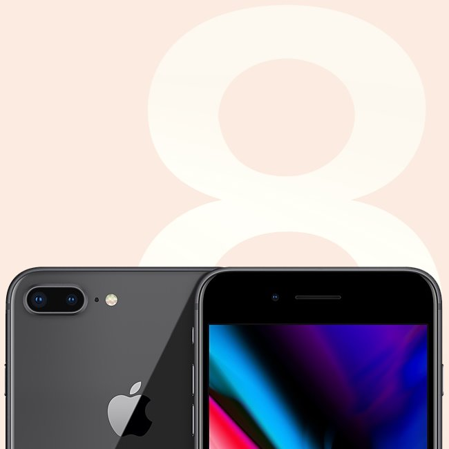 Apple iPhone 8 Plus, 64GB |  Space Gray, Třída B-použité, záruka 12 měsíců
