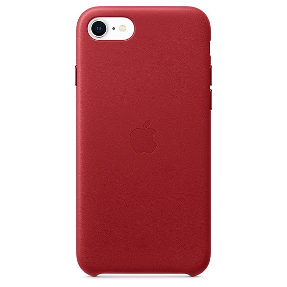 Apple iPhone SE Leather Case-(PRODUCT) RED