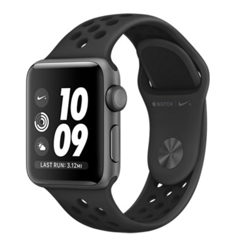 Apple Watch Nike + Series 3 GPS, 38mm Space Grey Aluminium Case with Anthracite/Black Nike Sport Band