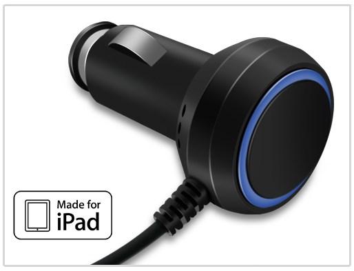 Kidigi autonabíječka pro Apple nový iPad/iPad 2/iPad (2,1 A), Black