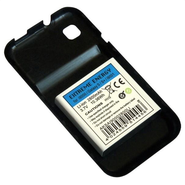 Rozšiřující baterie pro Samsung i9000/i9001 Galaxy S-2800 mAh Li-Ion I Black