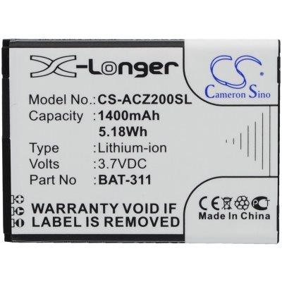 Baterie Cameron Sino pro Acer Liquid Z200, (1400 mAh)