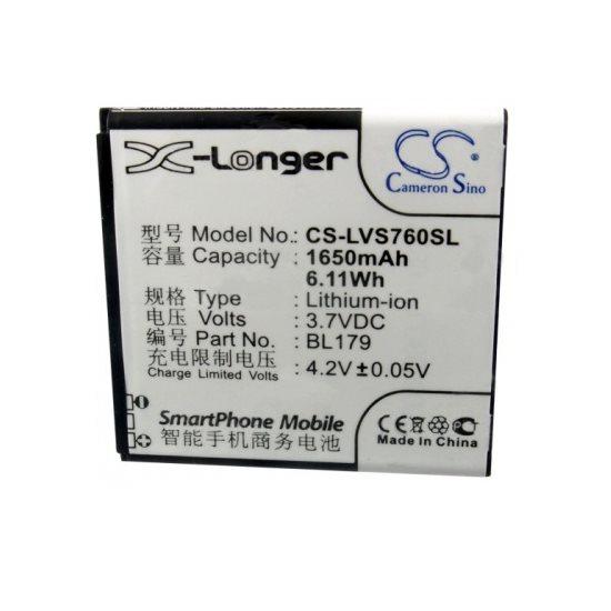 Baterie Cameron Sino pro Lenovo K2, (1650mAh)