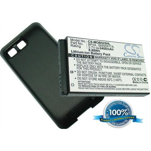 Rozšiřující baterie pro Motorola Defy a Defy 2400mAh kryt