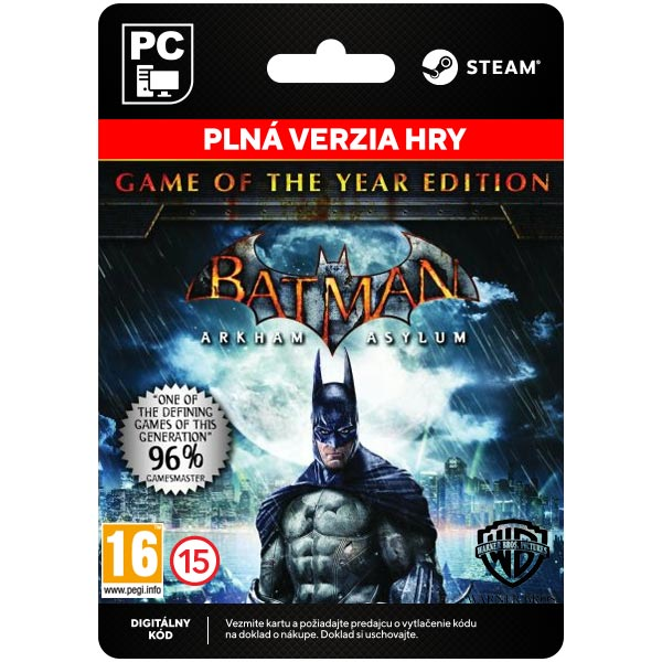 Batman: Arkham Asylum (Game of the Year Edition)[Steam]