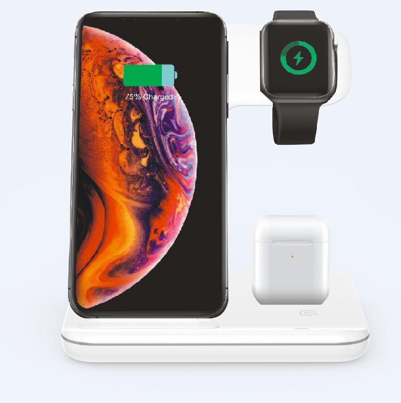 Bezdrátová nabíjecí stanice 3v1 pro iPhone, Apple Watch a Airpods