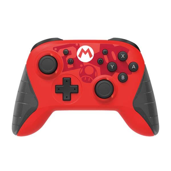 HORI Horipad bezdrátový nabíjecí ovladač pro konzole Nintendo Switch (Mario Edition)