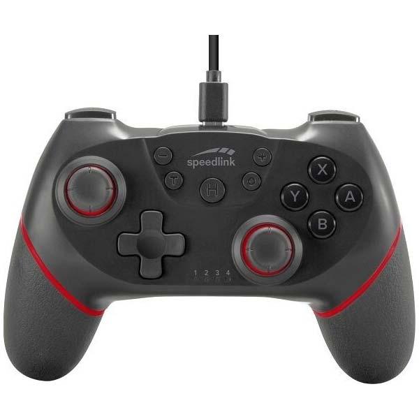 Bezdrátový ovladač Speedlink Wield pro konzole Nintendo Switch, černý