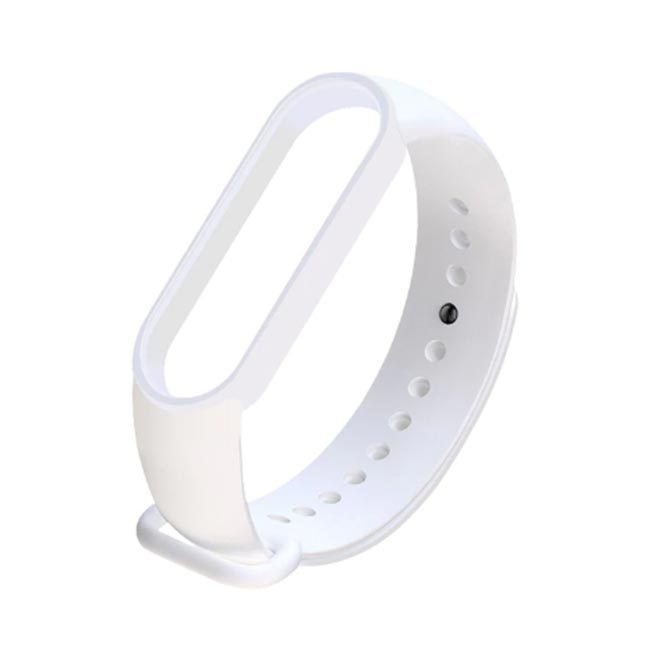Bílý náramek pro Xiaomi MiBand 5