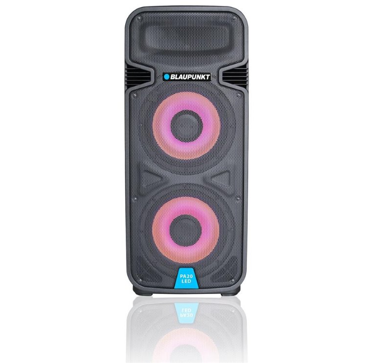 BlauPunkt PA20LED, karaoke bluetooth reproduktor, 800W