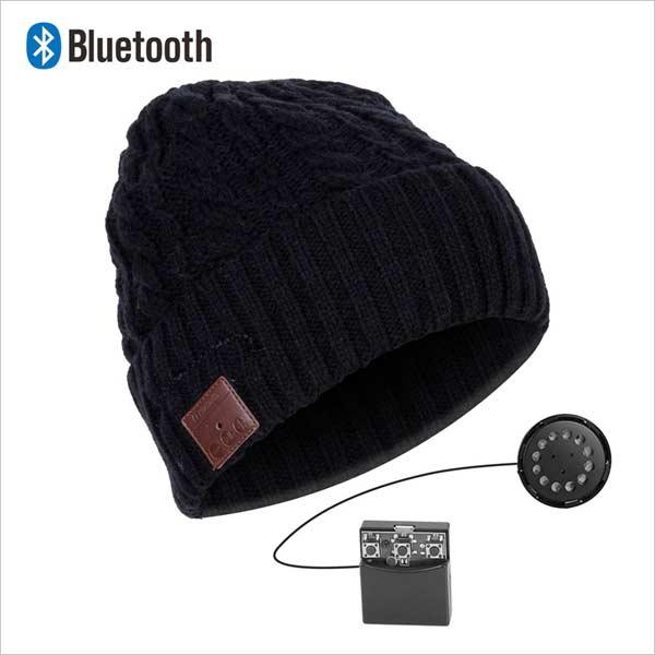 Bluetooth čepice, černá