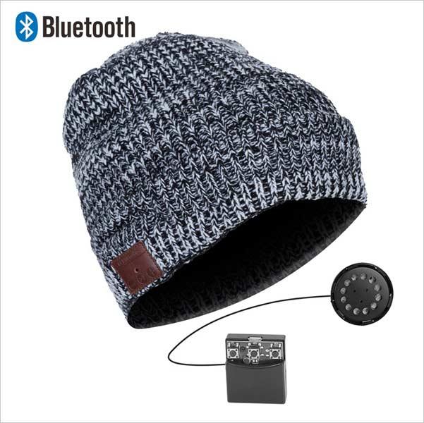 Bluetooth čepice, šedo-bílá