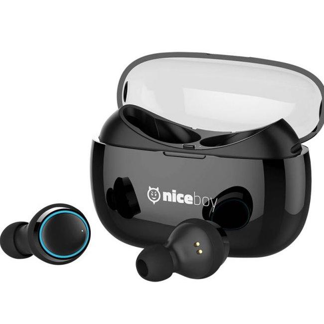 Bluetooth Stereo Headset Niceboy Hive Pods, Black-rozbalený zboží