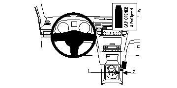 Brodit ProClip 834426 - pro Subaru Legacy 10-/Outback 10 -