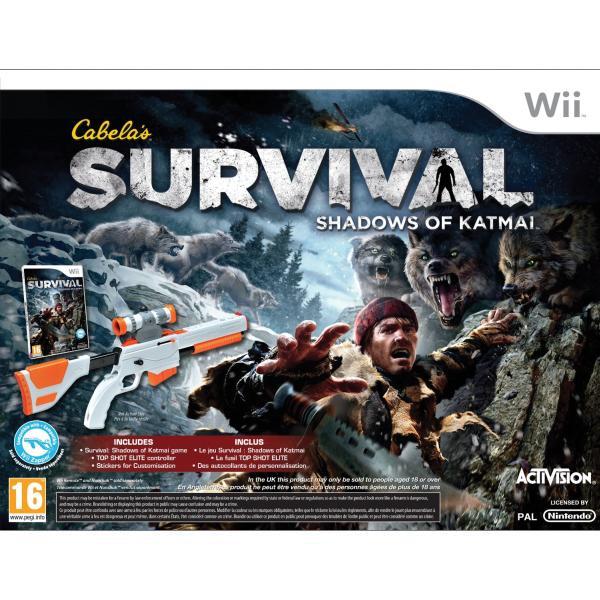 Cabela's Survival: Shadows of Katmai + Top Shot Elite Wii