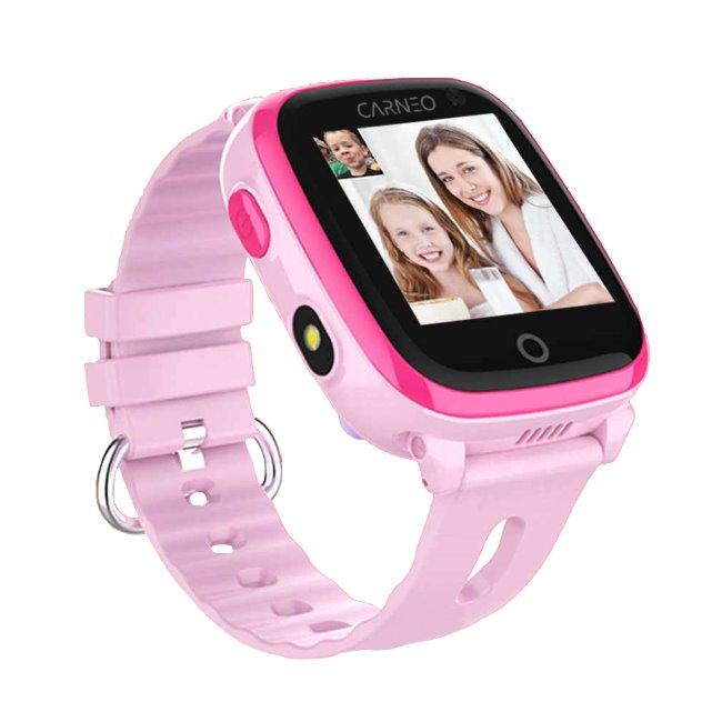 Carneo GuardKid + 4G-Smart hodinky s GPS pro děti, Pink