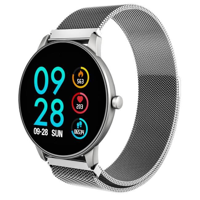 Carneo SlickFit Oxygen+ smart hodinky, strieborné