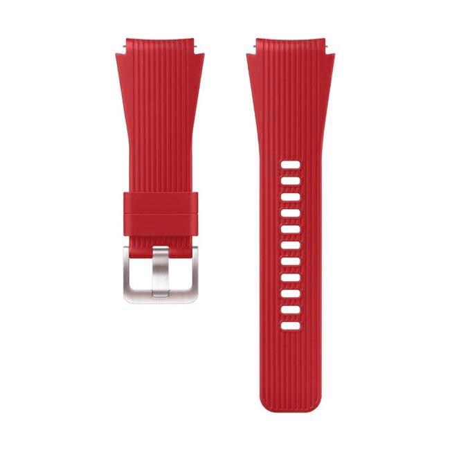Červený silikonový náramek pro Samsung Galaxy Watch-SM-R800, 46mm