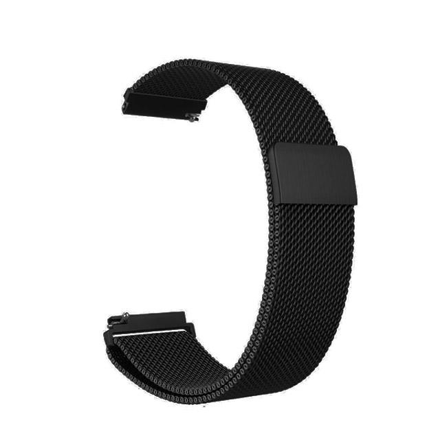 Čierny kovový náramok pre Samsung Galaxy Watch - SM-R810, 46mm