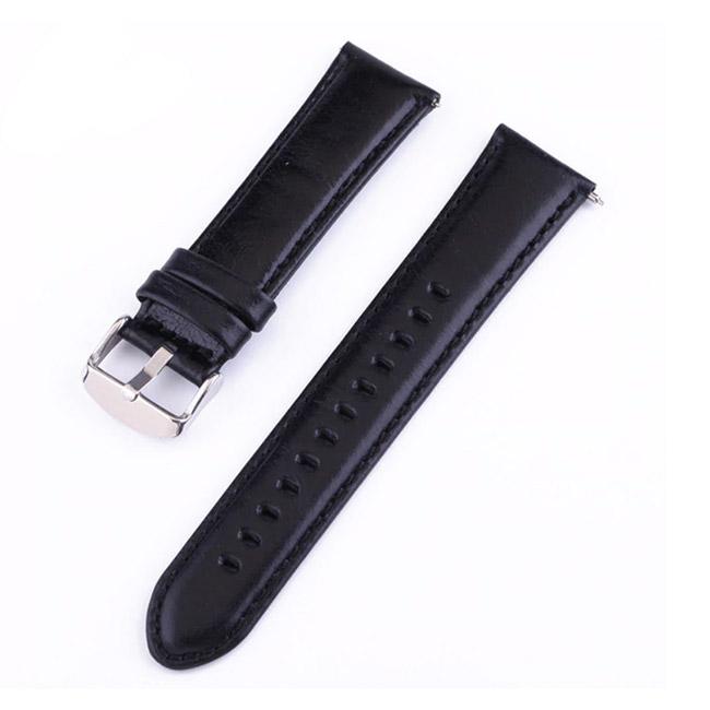 Černý kožený náramek pro Samsung Galaxy Watch-SM-R800, 46mm