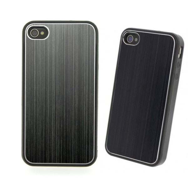 COVER METAL COLOR BLACK IPHONE 4/4S
