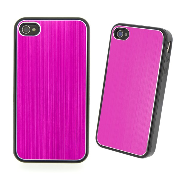 COVER METAL COLOR PINK IPHONE 4/4S