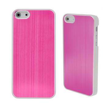 COVER METAL COLOR PINK IPHONE 5